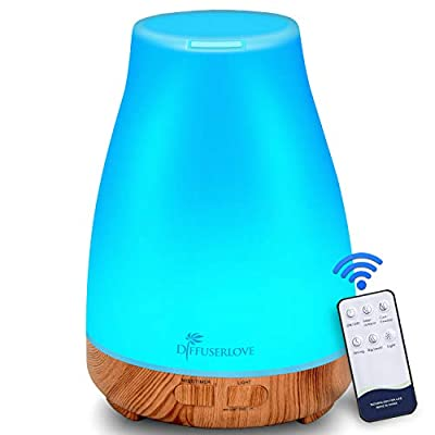 300ML Essential Oil Diffuser Aromatherapy Diffuser Mist Humidifiers with 7 Color LED Lights and Waterless Auto Shut-off for Bedroom Office House Kitchen Yoga