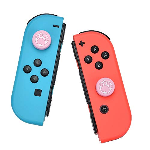 1 par de tapas para joystick compatible con Nintendo Switch & Lite – Silicona suave – mejor agarre   agarre – Antisudoración pulgar (pata)