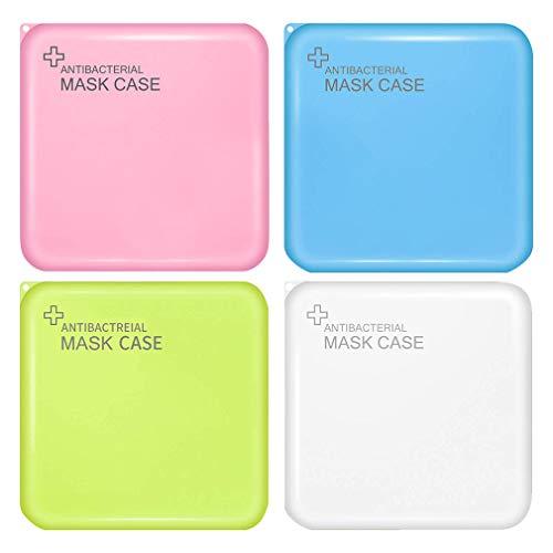 Jelord-4 PCS Scatole in Plastica per m-a-s-c-h-e-r-i-n-e Monouso Portatile Porta Antipolvere Anti -inquinamento Contenitore Custodia per m-a-s-c-h-e-r-i-n-a per per Borsa Bag (J)