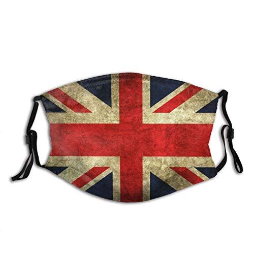 Mundschutz Vintage englische Flagge Unisex waschbar und wiederverwendbar Gesicht Schal für den Außenbereich