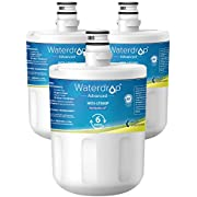 Waterdrop LT500P NSF 53&42 Certified Refrigerator Water Filter, Compatible with LG LT500P, 5231JA2002A, ADQ72910901, Kenmore GEN11042FR-08, 9890, 46-9890, Advanced Series, Pack of 3