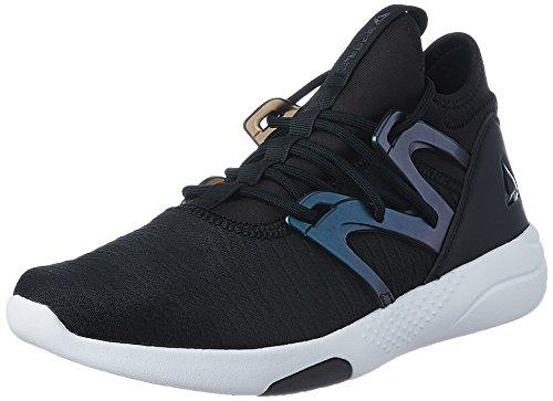 Reebok Damen Hayasu Ltd Multisport Indoor Schuhe, schwarz Öl Slick Weiß Vicious Violet, 39 EU