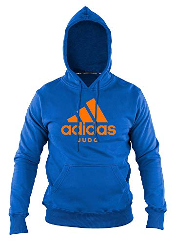 adidas Community line Hoody Judo Performance Light Blue/orange, ADICHJ (M)