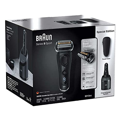 Braun Series 9 Shaver with Clean and Charge System 9310CC