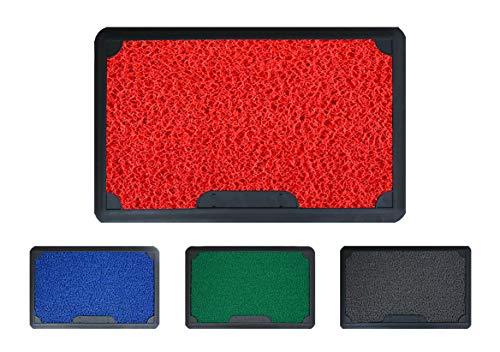 Mabel Home Disinfectant PVC Doormat, 18'x28' , Corona Doormat, Outdoor-Indoor, Disinfectant Pool, Easy 2 Clean (Red)