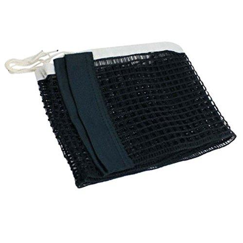 Homy, rete da ping pong per interni ed esterni, rete da ping pong, lunghezza 175,3 cm, colore: nero