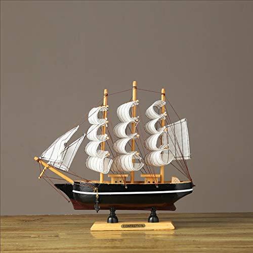 LRW Creatieve zeilvorm in de vorm van een houten boot voor thuis, woonkamer, kantoor, slaapkamer, wijn, kast, handwerk