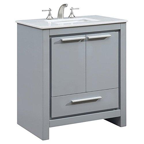 Elegant Decor VF-1028 Single Bathroom Vanity Set, 30', Grey/VF-1028