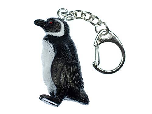 Miniblings Llavero de pingüino con gafas, hecho a mano, de moda, pingüino, pingüino, marítimo, pájaro, Antártico, Polo Sur