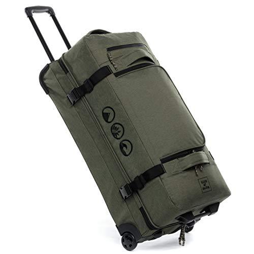 XL Reisetasche mit 2 Rollen Kane Rollkoffer 80 cm Koffer Sporttasche Reise-Trolley 120L, grün-Olive