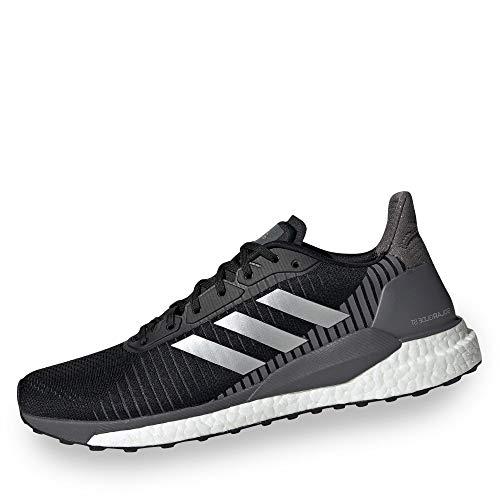 Adidas Solar Glide St 19, Zapatillas de Correr Hombre, Negro/Gris (Cblack/Silvmt/Grefiv), 45 1/3 EU