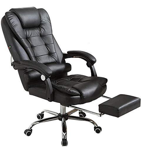 RASHION Bürosessel, Bürostuhl Chefsessel mit Massagefunktion, Drehstuhl Höhenverstellbarer Gaming Stuhl