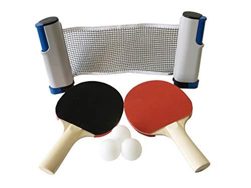 LITEC(ライテック) ファミリー卓球セット 自宅のテーブルで卓球 ラケット2本・ネット・ボール3球 108