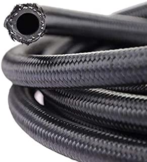 10FT 6AN Braided Fuel Line Hose -6AN Nylon Braided for 3/8' Tube Size