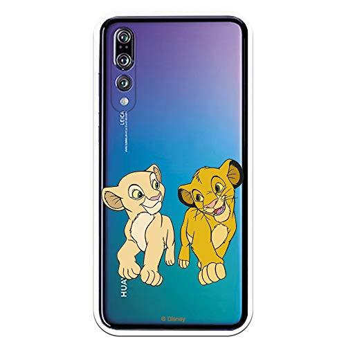 Funda para Huawei P20 Pro - P20 Plus Oficial de El Rey León Simba y Nala Mirada Complice para Proteger tu móvil. Carcasa para Huawei de Silicona Flexible con Licencia Oficial de Disney.