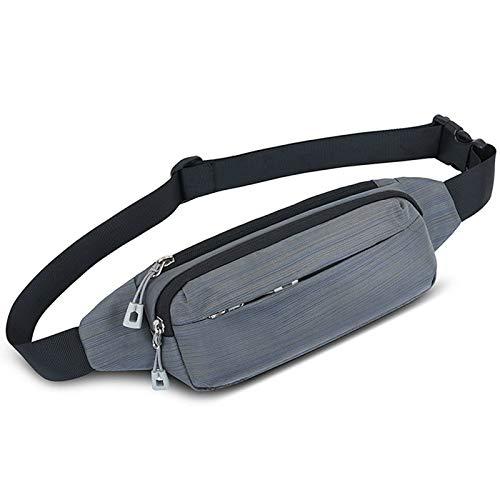 Bolsa de paquete de cintura al aire libre Gimnasio Multifuncional Bolsa De Cintura Ejecución De Banda Outdoor Running Bolsa Bolsa Riding Paquete deportivo ligero ( Color : Gris , Size : One size )