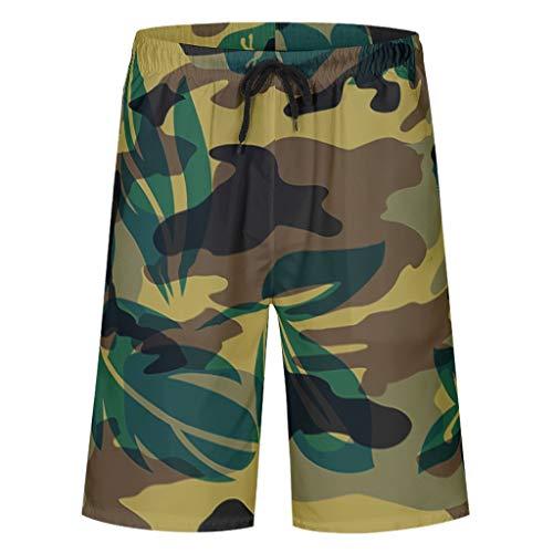 Bannihorse heren zwembroek vrije tijd short zomer strandmode sneldrogend zwemshorts zwempak zwembroek shorts met verstelbare trekkoord zakken zonder mesh voering