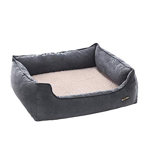 FEANDREA Hundebett für mittelgroße Hunde, orthopädisches Hundesofa, waschbar, grau...