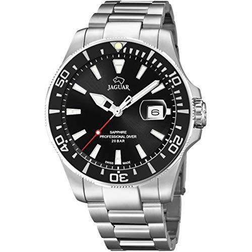 Reloj Jaguar Acamar J860/D Esfera Negra y Bisel Negros 44 mm diámetro