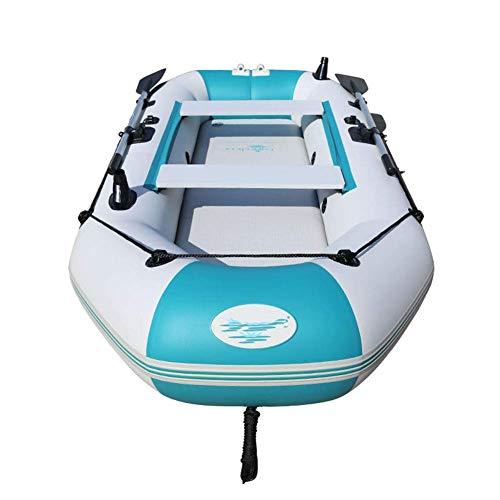 LXDDP Verdicktes Anti-Pannen-Schlauchboot-Kajak mit hartem Boden 330 * 136 cm, Abenteuer-Kanu Outdoor-Freizeit-Fischerboot mit Aluminium-Ruder, Kajak mit Lamellenboden
