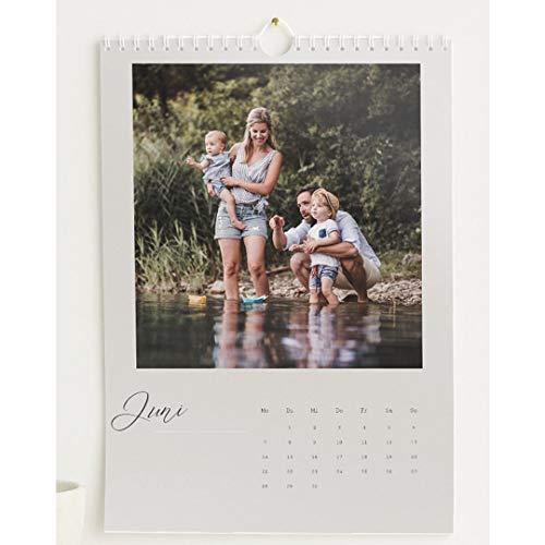 Fotokalender 2021 mit Relieflack, Neues Jahr, Wandkalender mit persönlichen Bildern, Kalender für Digitale Fotos, Spiralbindung, DIN A4 Hochformat