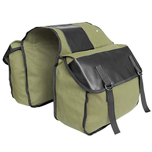 MTB Fahrradtasche Mountainbike Gepäckträgertasche Fahrradtaschen mit Verstellbaren Haken, Tragegriff, Reflektierender Besatz und Großen Taschen