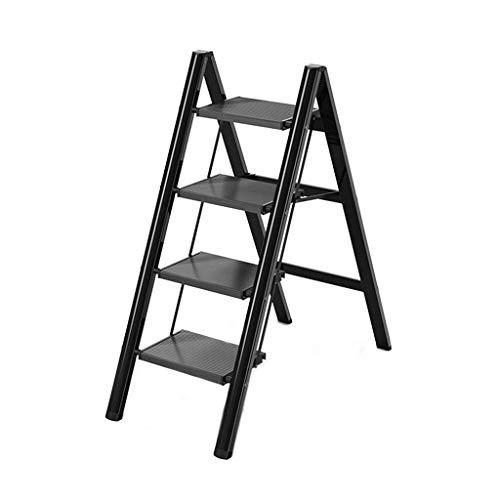 FSZB Taburete Plegable Fino Robusto Equipo de Herramienta de Escalera de Escalera Plegable para Interiores (Color : C, Size : 4-Tier)