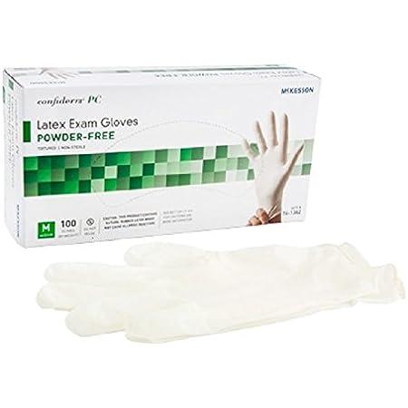 McKesson Confiderm PC Latex Exam Gloves - Item Number 14-1382BX - Medium - 100 Each / Box