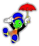 Jiminy Cricket Umbrella Cartoon STICKER GRAPHIC - Bumper WIndow Laptop Locker Waterbottle Folder Sticker Sign