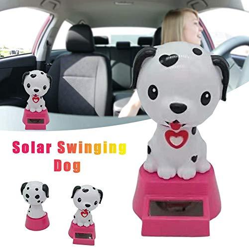 flower205 Wackelfigur Solar Wackelfiguren Solarbetriebenes Tanzen Schwingen Animierte Bobble Dancer Spielzeugauto Dekor Hund Kopfschüttelnde Puppe