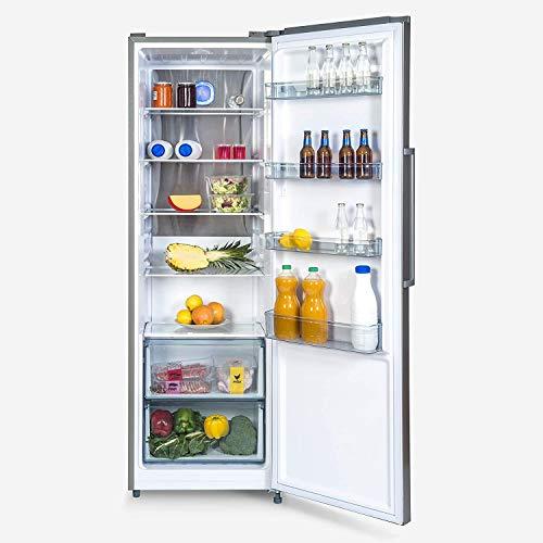 UNIVERSALBLUE   Frigorifero bianco 1 anta No frost 185 cm   Senza congelatore   Efficienza energetica A+   Capacità totale 352L   Sistema silenzioso   Inox