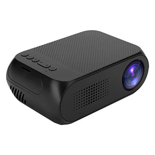 Mini proyector, YG320 1080P LED proyector de Cine en casa Compatible con AV/USB/Micro Tarjeta de Memoria/Proyectores de Video multifunción HDMI para TV, PC, Xbox, PS4, Negro 100-240V.(yo)