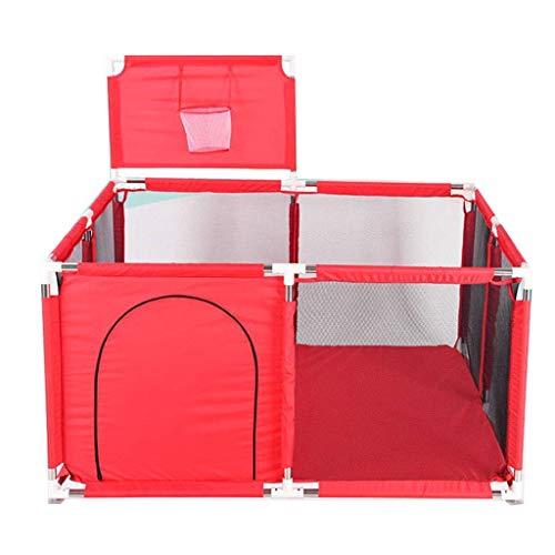 LUNAH Parque para niños Parque Cuadrado Plegable y portátil con Red Transpirable y Bolsa de Almacenamiento Juegos de Interior y Exterior para 0-4 años Azul