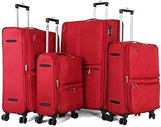 جيوردانو طقم حقائب سفر بعجلات 4 قطع ,عنابي ,96272