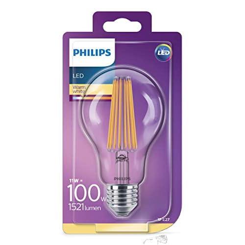 Philips Lighting Lampadina LED Classic Goccia E27, 11 W Equivalenti a 100W, [Classe di efficienza energetica A++]