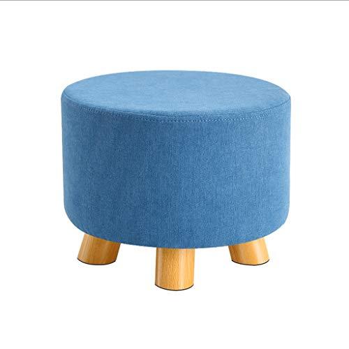 LYLY Otomana Otoman Pooncillo Heces Franela Silla pequeña Asiento Sillón Sofá Moderno Moderno Tapizado para Muebles en Sala de Estar Taburete (Color : Dark Blue)