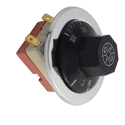 Aexit AC 250V Baumarkt 16A 50-300 Grad Celsius NC Backofen Thermostat Elektroinstallation Temperaturregler Kapillare