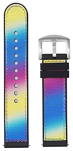 FETTR Correa de silicona para reloj deportivo, correa de silicona con cable, correa de silicona para hombre y mujer, resistente al agua, color plateado