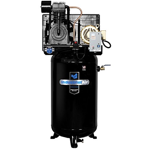 Industrial Air IV7538075 Vertical 80 gallon Two Stage Cast Iron Industrial Air Compressor