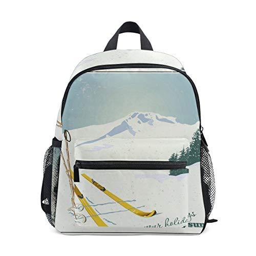 Mochila Montañas y Equipo de esquí Snow Mini Kids Pre-School Kindergarten Toddler...