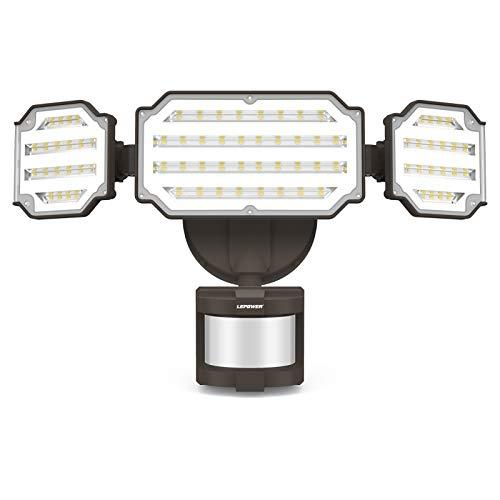 LEPOWER 45W LED Security Lights Motion Sensor Light Outdoor, 4500LM Motion...