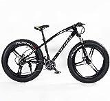 Mountain Bikes Teens Mountain Bikes21-Speed 24 Inch Fat Tire BicicletaBicicleta con marco de acero de alto carbono Hardtail Mountain Bike con freno de disco doble Amarillo Spoke-3 Spoke_Yellow