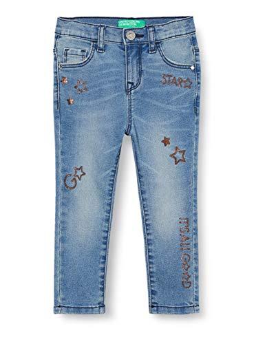United Colors of Benetton Baby-Mädchen Jeans Hose, Mehrfarbig (Multicolore 911), 86/92 (Herstellergröße: 2y)