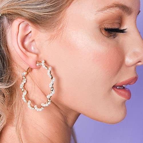 Overlord Juego de pendientes, para mujer, diseño floral, redondo, pendientes geométricos, joyas para mujer (color metálico: 050043)