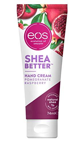 eos Shea Better Hand Cream Pomegranate Raspberry, feuchtigkeitsspendende Handpflege, in handlicher Tube, mit Granatapfel & Himbeere, für weiche Hände, mit nachhaltiger Sheabutter & Sheaöl