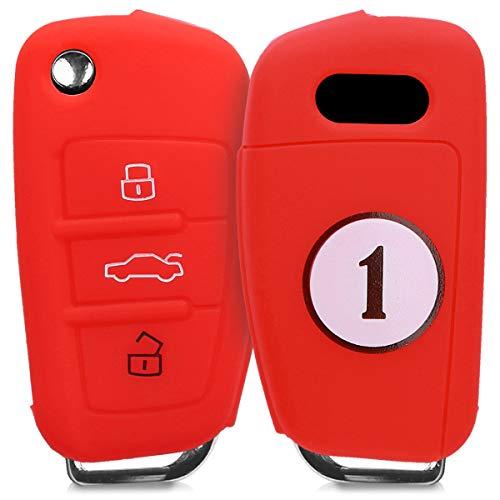 kwmobile Funda para Llave Plegable de 3 Botones para Coche Audi - Carcasa...