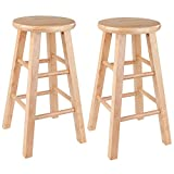 Winsome Wood Pacey Stool, 24', Natural