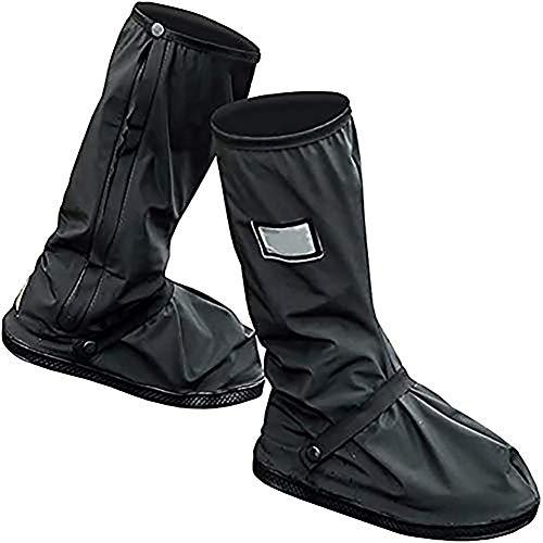 MQFORU Sur-chaussures Guêtres étanches, chaudes, coupe-vent pour cyclistes Protections contre neige, pluie, Noir , 6.5-7.6UK
