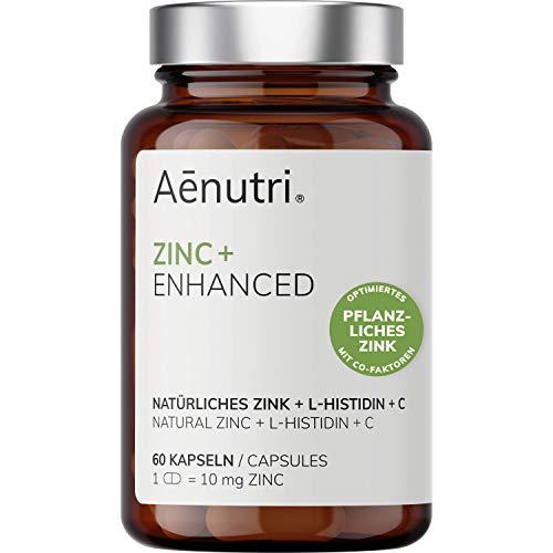 NUEVO: ZINC Plus con L-Histidina + Vitamina C   10mg de zinc vegetal de hoja de guayaba   Dosis alta + Natural con cofactores   Hecho en Alemania   60 cápsulas