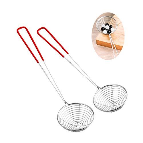 LATTCURE Espumadera para fondue colgable, set de araña de a